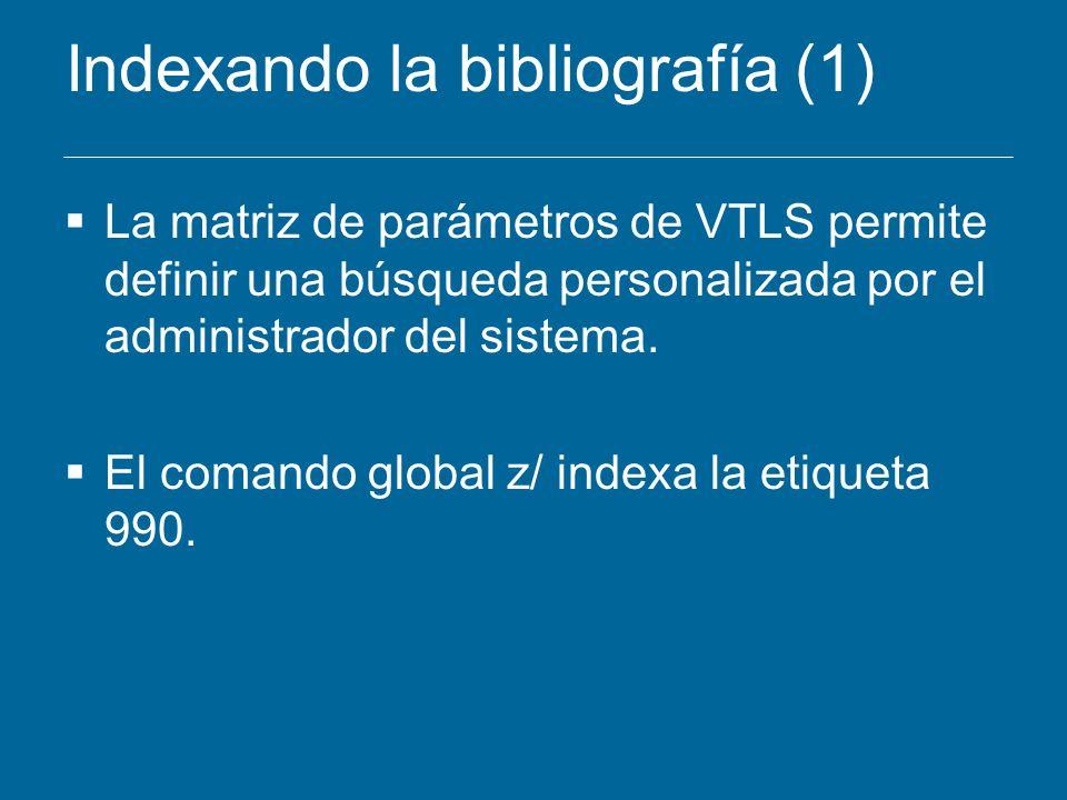 Indexando la bibliografía (1)