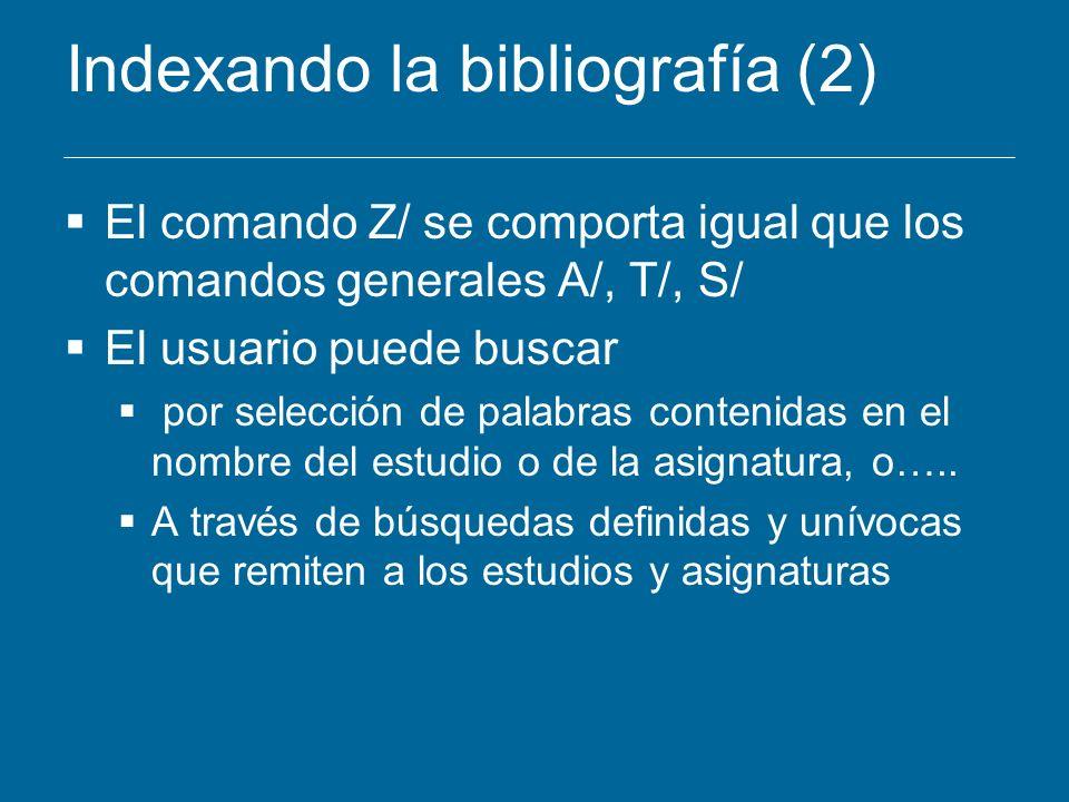 Indexando la bibliografía (2)