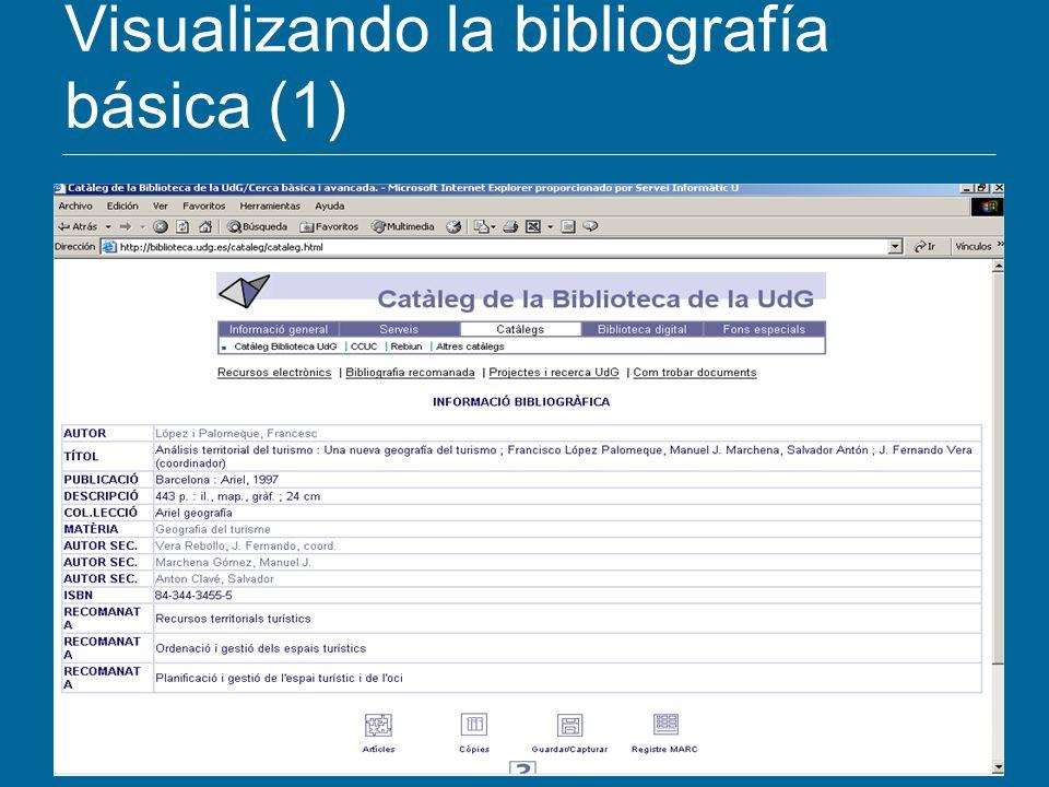 Visualizando la bibliografía básica (1)