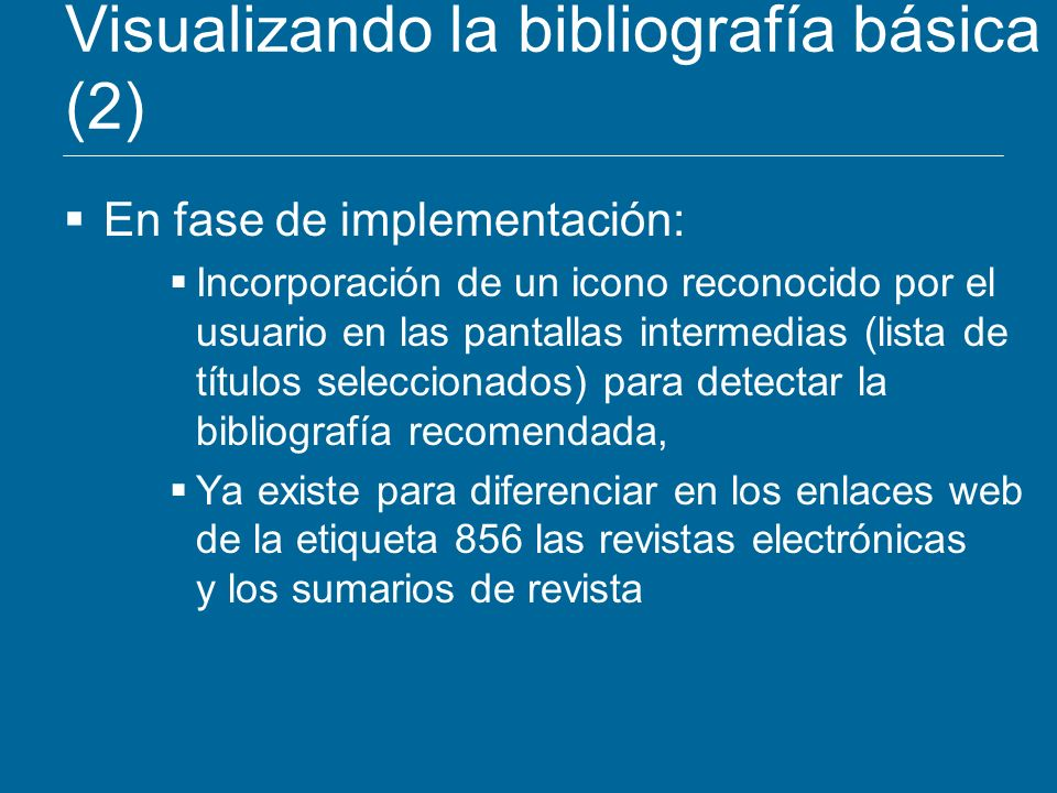 Visualizando la bibliografía básica (2)