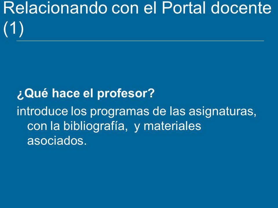 Relacionando con el Portal docente (1)