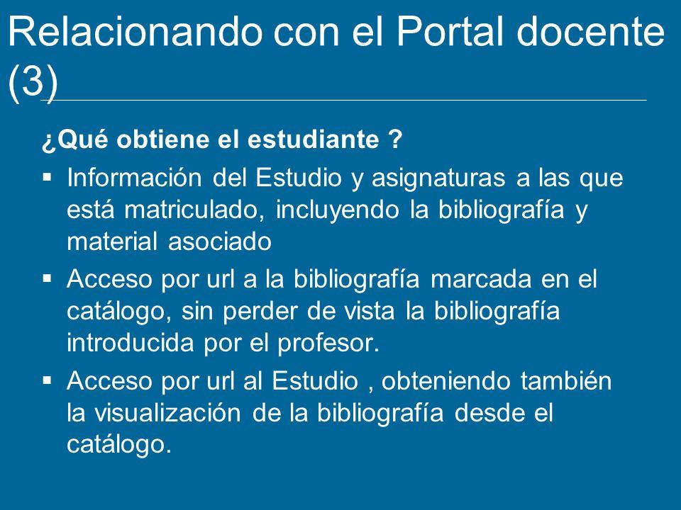 Relacionando con el Portal docente (3)