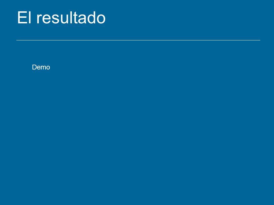 El resultado Demo