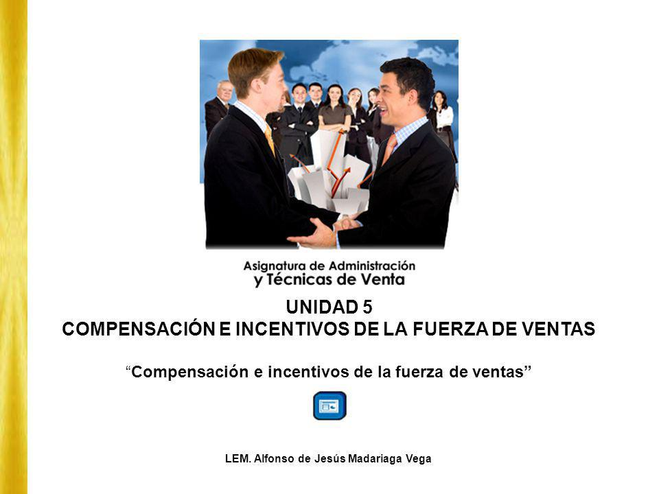 UNIDAD 5 COMPENSACIÓN E INCENTIVOS DE LA FUERZA DE VENTAS