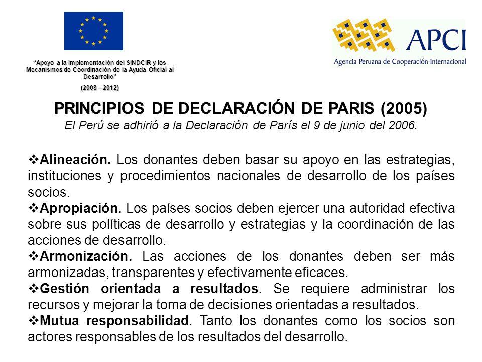PRINCIPIOS DE DECLARACIÓN DE PARIS (2005)