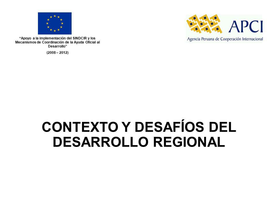 CONTEXTO Y DESAFÍOS DEL DESARROLLO REGIONAL