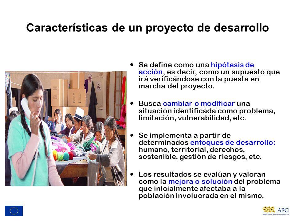 Características de un proyecto de desarrollo
