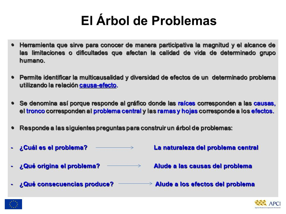El Árbol de Problemas
