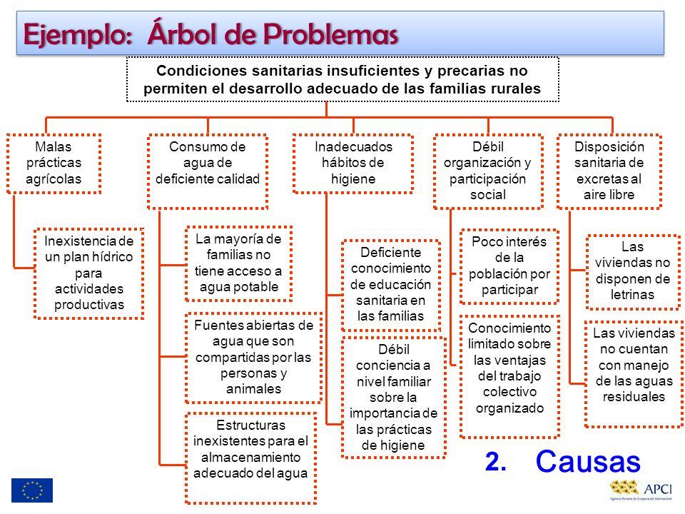 Ejemplo: Árbol de Problemas