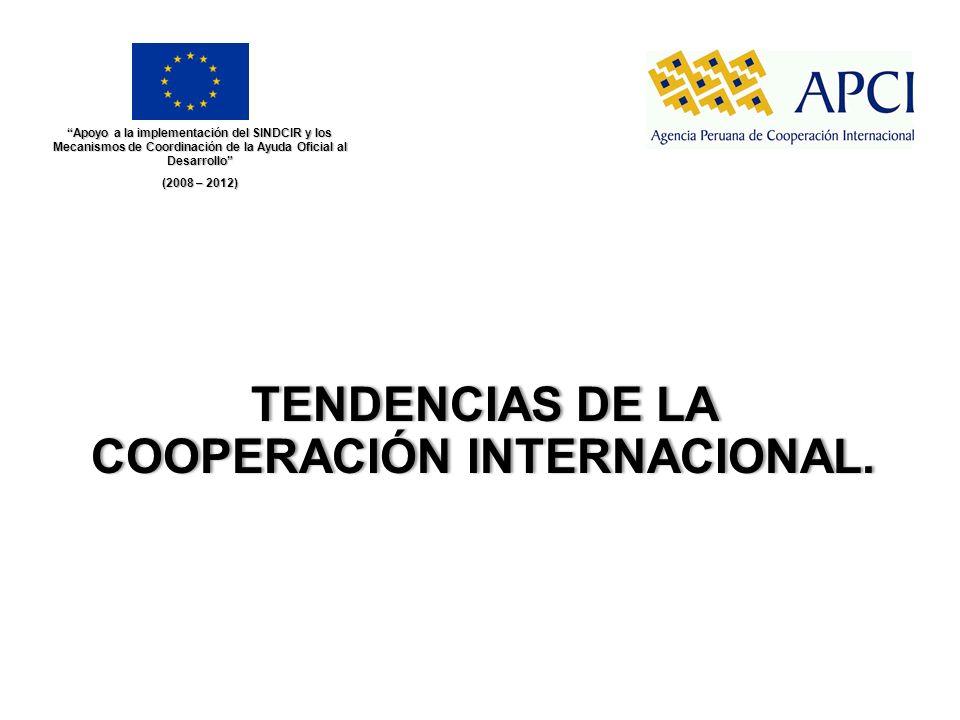 TENDENCIAS DE LA COOPERACIÓN INTERNACIONAL.