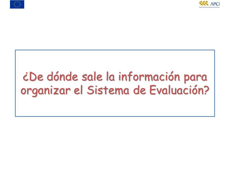 ¿De dónde sale la información para organizar el Sistema de Evaluación