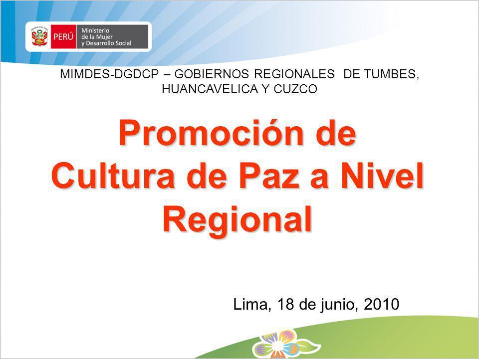 Promoción de Cultura de Paz a Nivel Regional