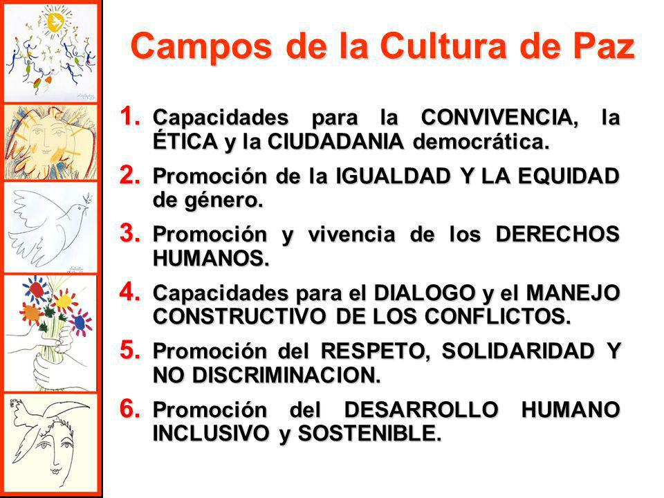 Campos de la Cultura de Paz