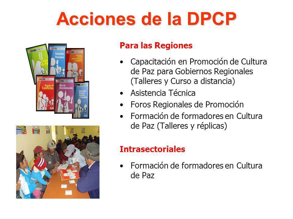 Acciones de la DPCP Para las Regiones