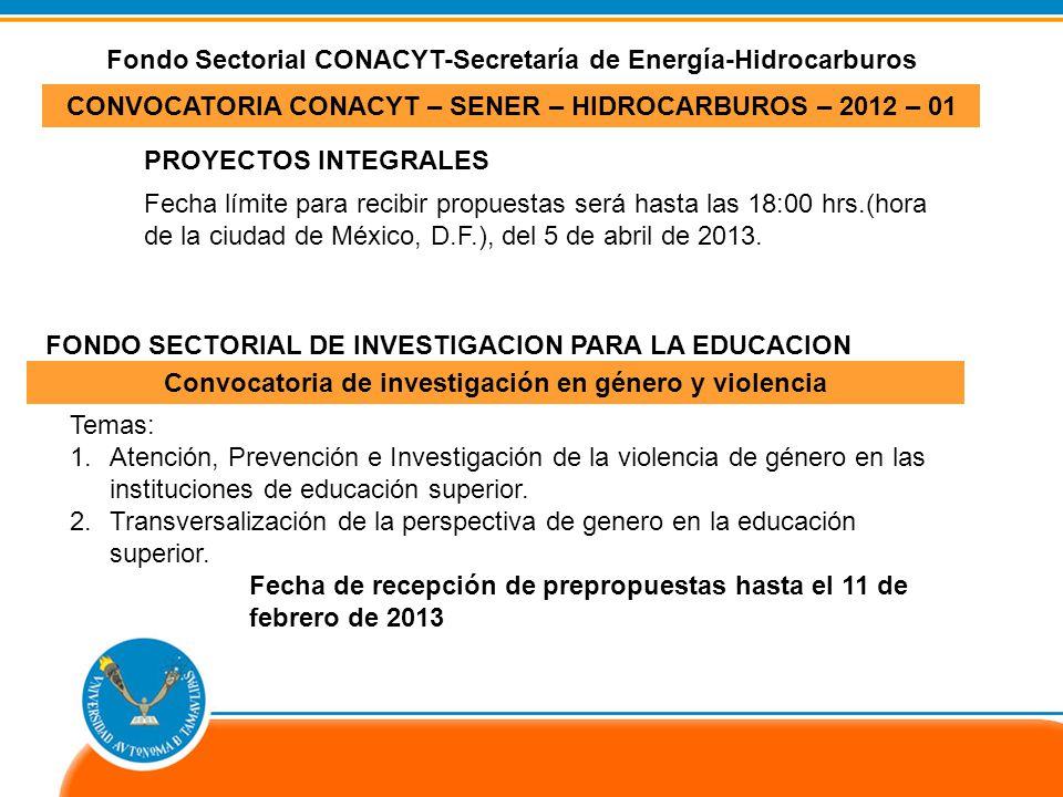 Fondo Sectorial CONACYT-Secretaría de Energía-Hidrocarburos