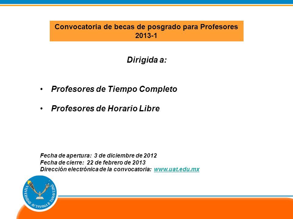 Profesores de Tiempo Completo Profesores de Horario Libre