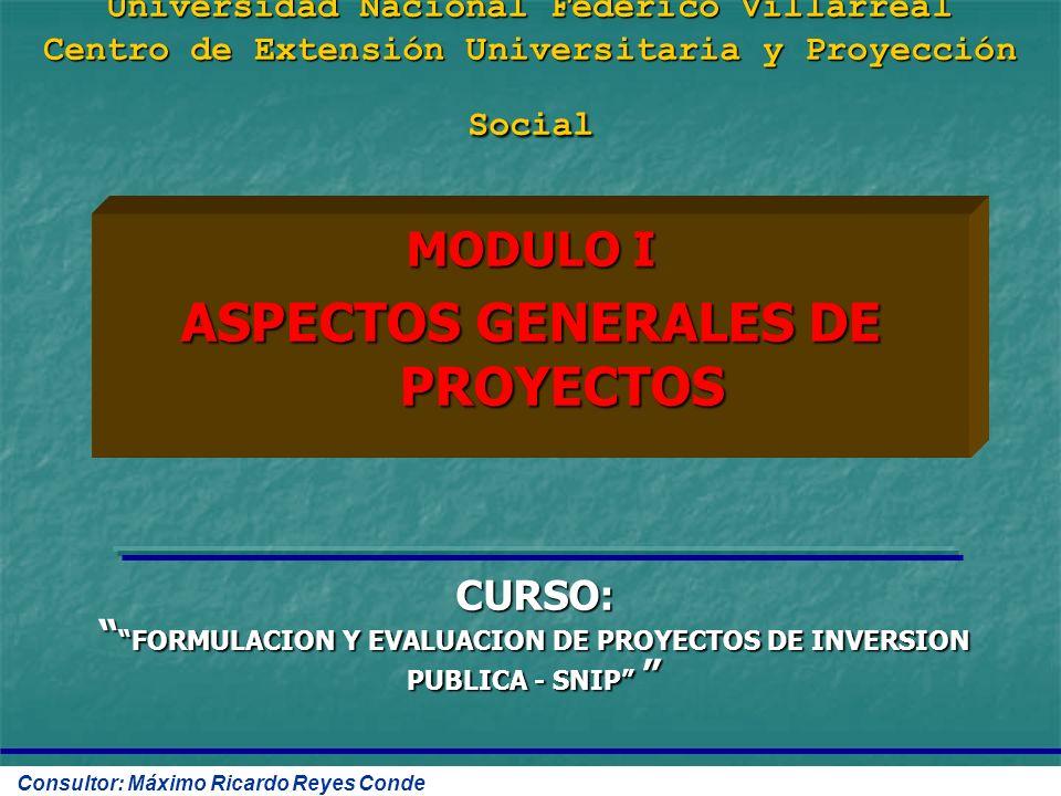 ASPECTOS GENERALES DE PROYECTOS