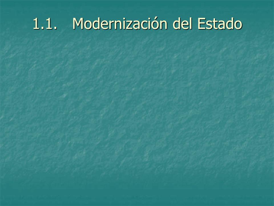 1.1. Modernización del Estado