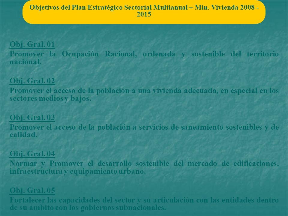 Objetivos del Plan Estratégico Sectorial Multianual – Min