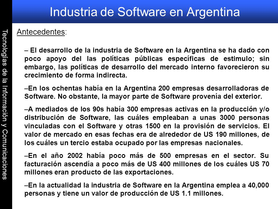 Industria de Software en Argentina