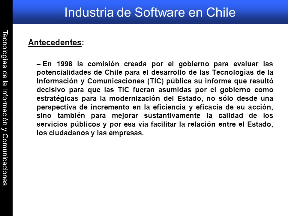 Industria de Software en Chile