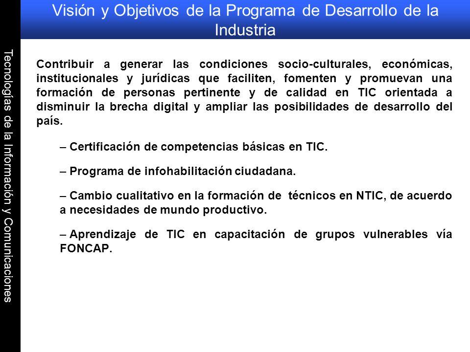 Visión y Objetivos de la Programa de Desarrollo de la Industria