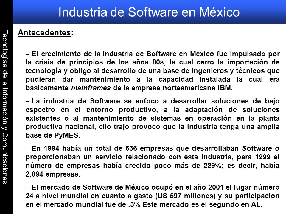 Industria de Software en México