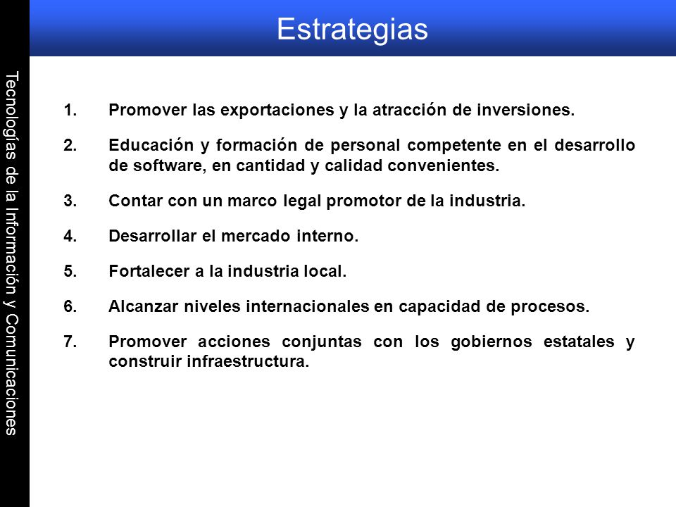 Tecnologías de la Información y Comunicaciones