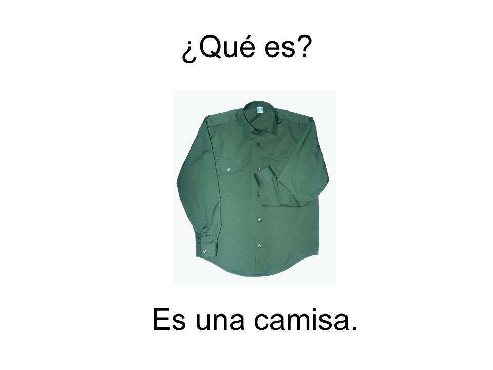 ¿Qué es Es una camisa.