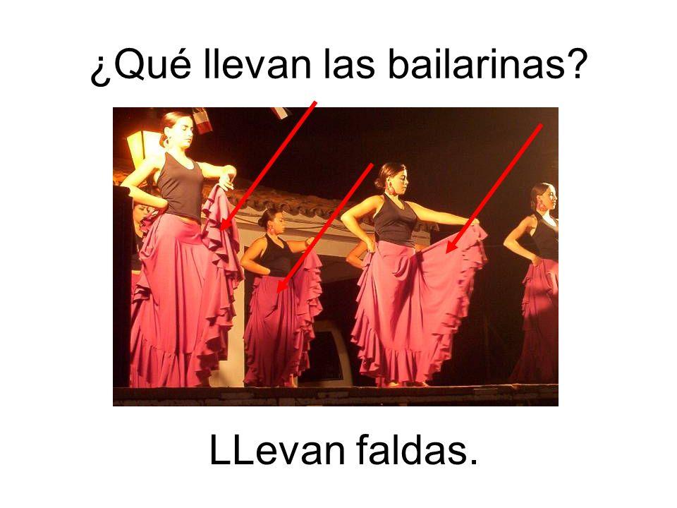 ¿Qué llevan las bailarinas