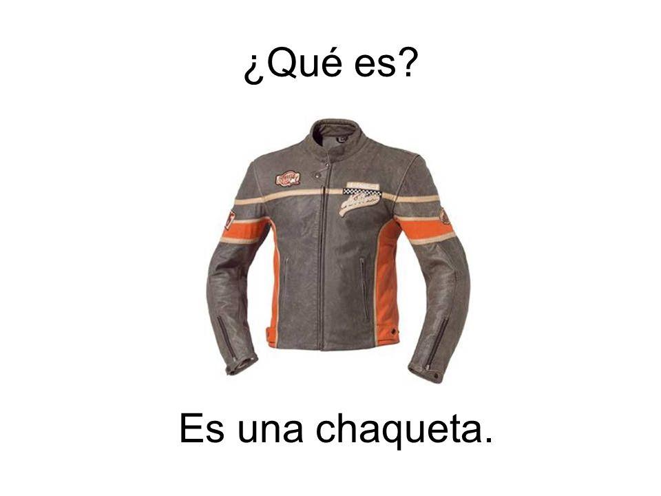 ¿Qué es Es una chaqueta.