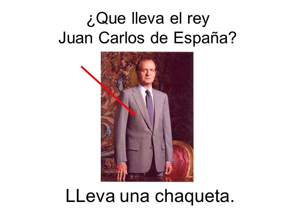 ¿Que lleva el rey Juan Carlos de España