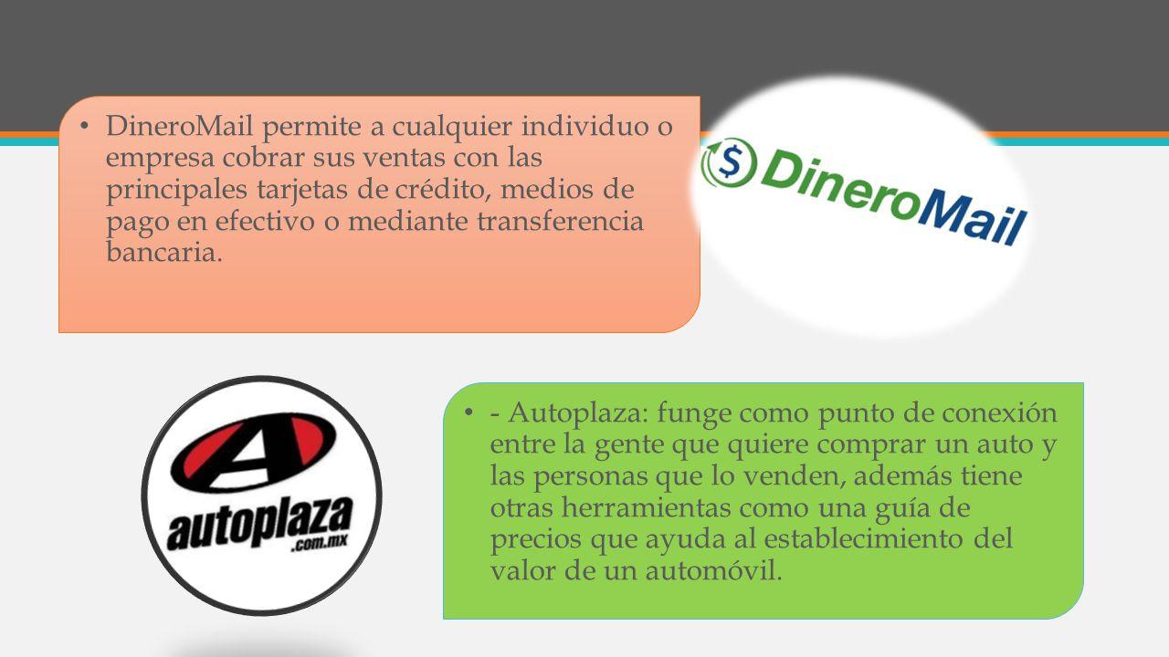 DineroMail permite a cualquier individuo o empresa cobrar sus ventas con las principales tarjetas de crédito, medios de pago en efectivo o mediante transferencia bancaria.