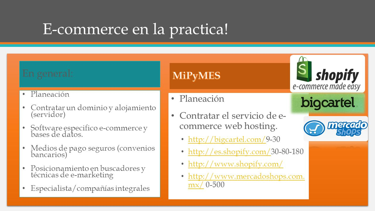 E-commerce en la practica!