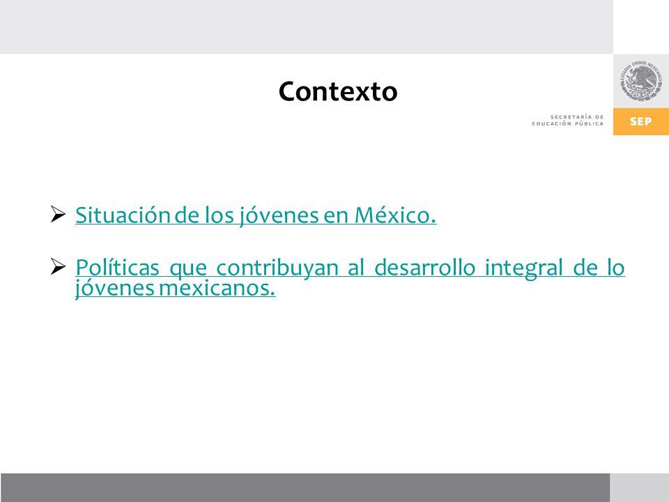 Contexto Situación de los jóvenes en México.