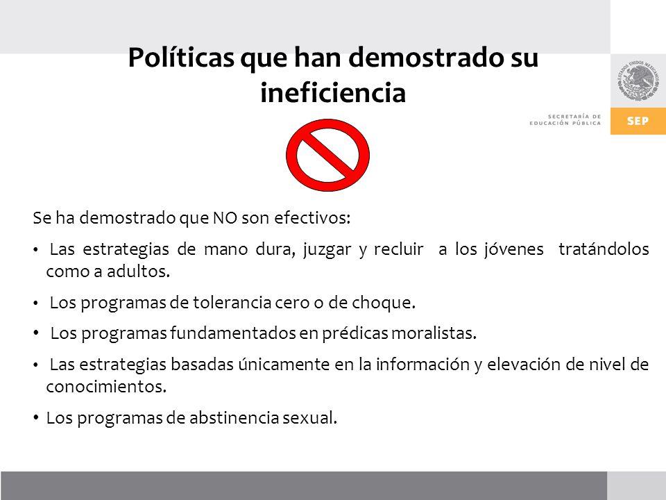 Políticas que han demostrado su ineficiencia