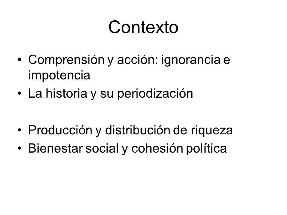 Contexto Comprensión y acción: ignorancia e impotencia