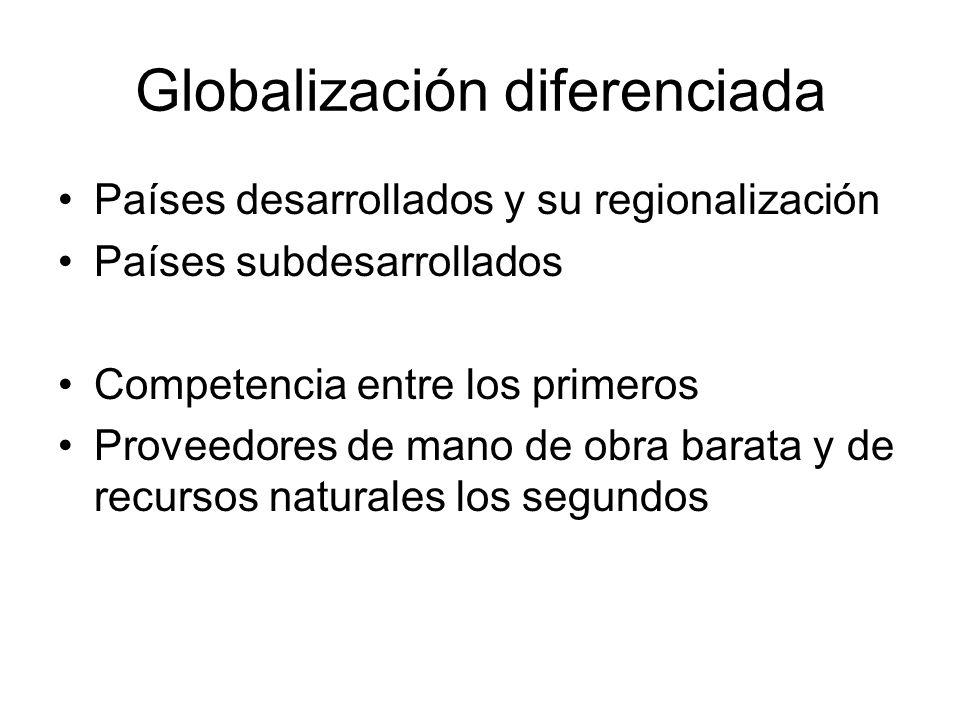 Globalización diferenciada