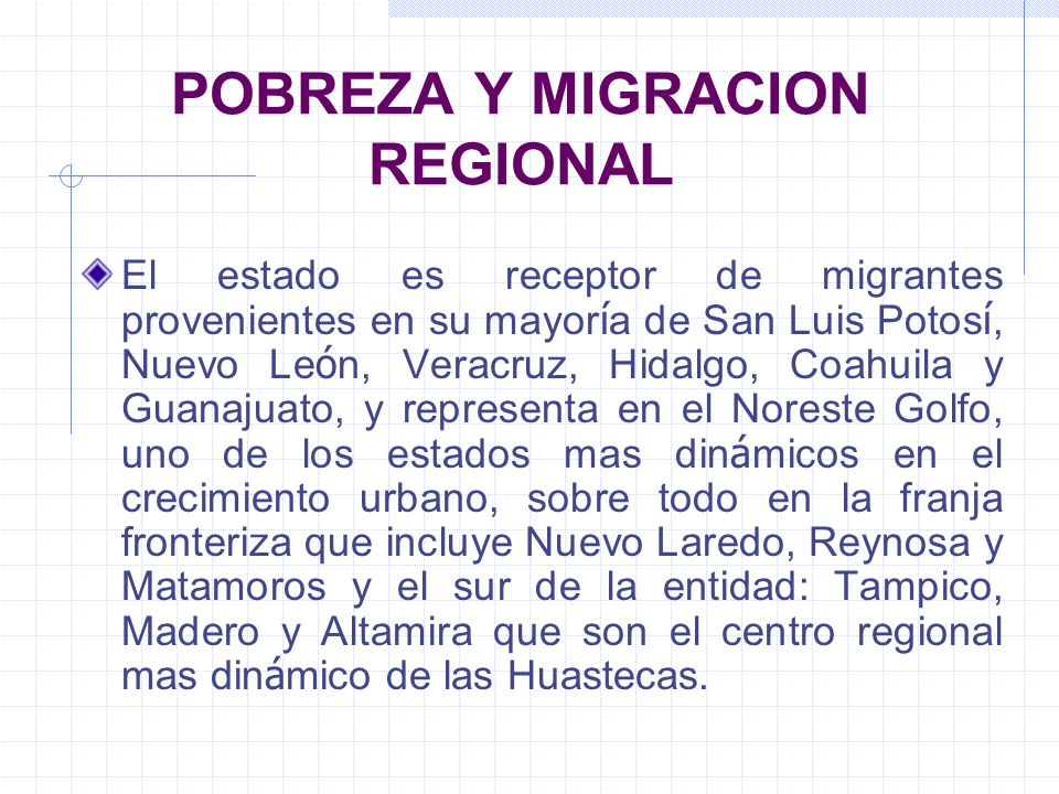POBREZA Y MIGRACION REGIONAL
