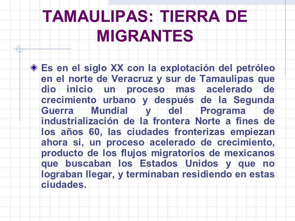 TAMAULIPAS: TIERRA DE MIGRANTES