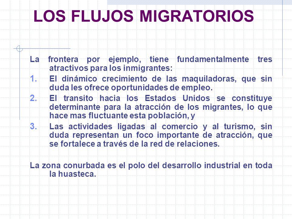 LOS FLUJOS MIGRATORIOS