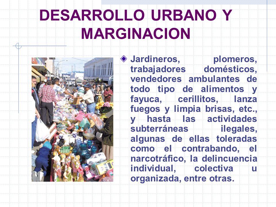 DESARROLLO URBANO Y MARGINACION
