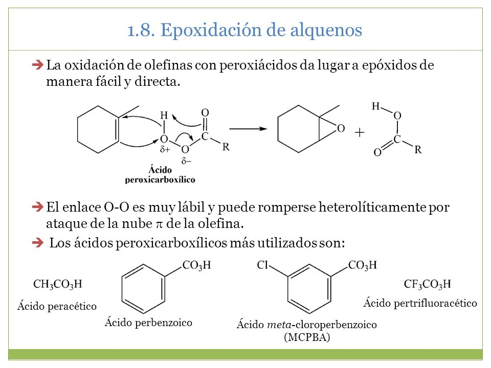 1.8. Epoxidación de alquenos