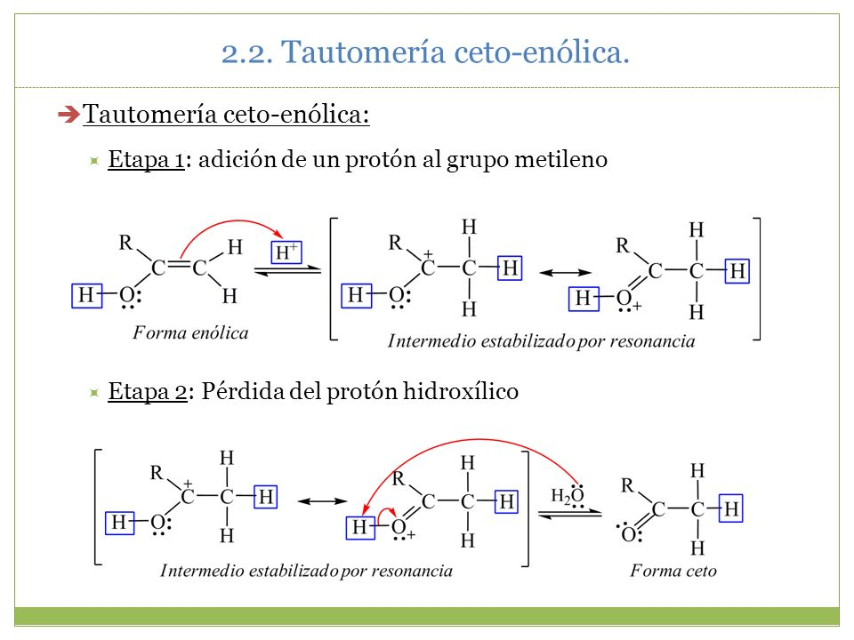 2.2. Tautomería ceto-enólica.