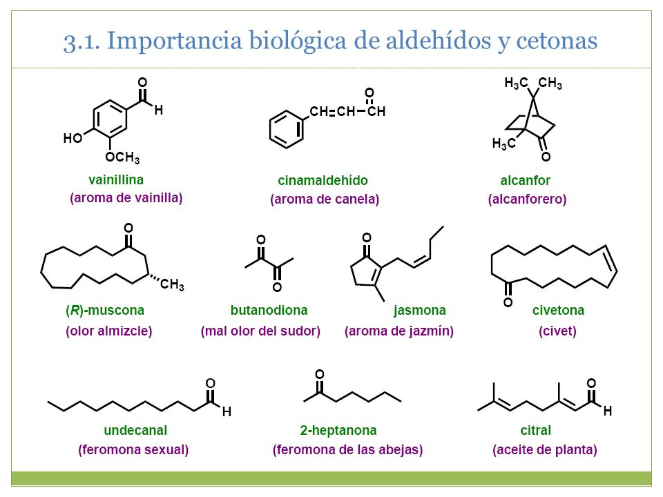 3.1. Importancia biológica de aldehídos y cetonas