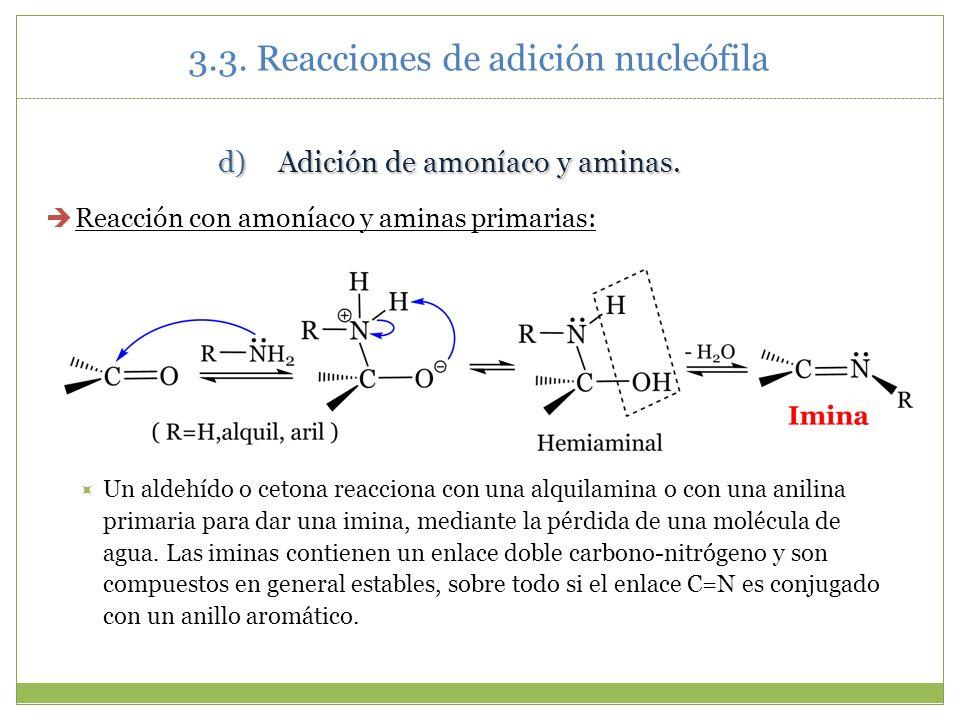 3.3. Reacciones de adición nucleófila