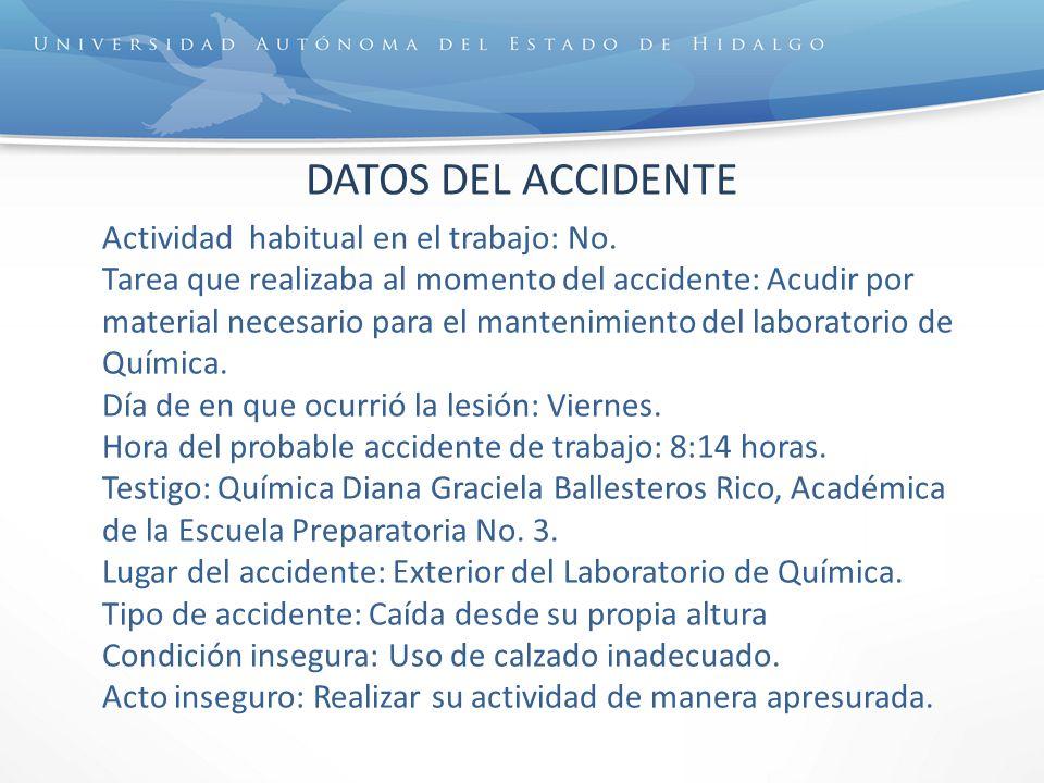 DATOS DEL ACCIDENTE