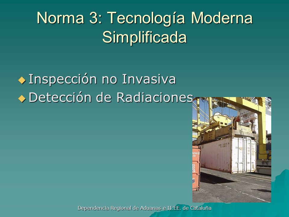 Norma 3: Tecnología Moderna Simplificada