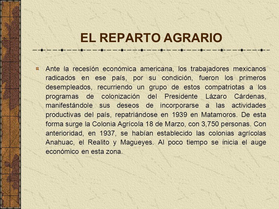 EL REPARTO AGRARIO