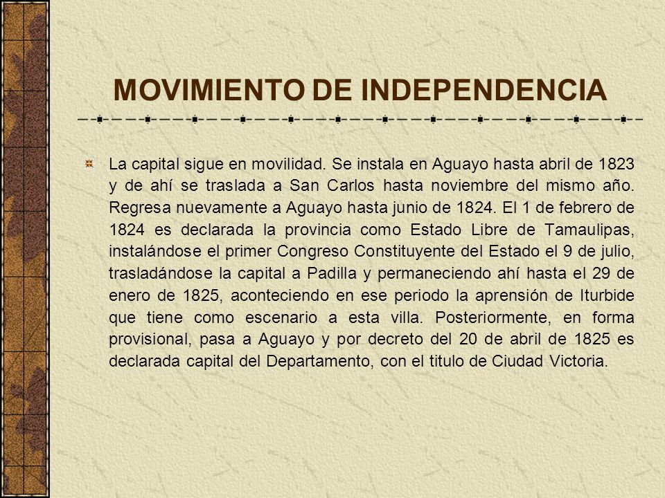 MOVIMIENTO DE INDEPENDENCIA